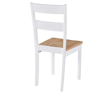 vidaXL Chaises de salle à manger 4 pcs Blanc Bois d'hévéa massif[5/6]