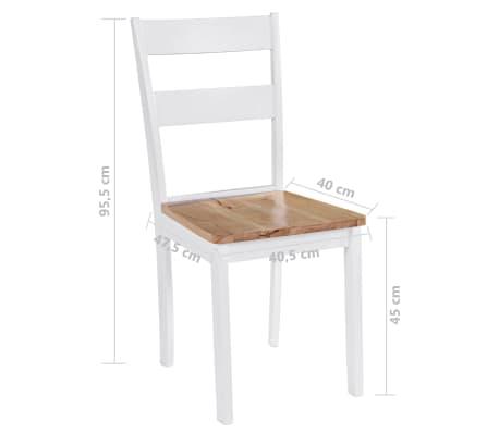 vidaXL Chaises de salle à manger 4 pcs Blanc Bois d'hévéa massif[6/6]