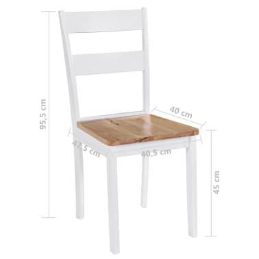 vidaXL Chaises de salle à manger 4 pcs Blanc Bois d