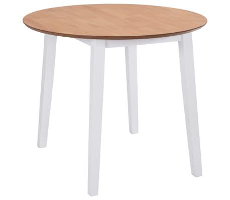 Vidaxl Drop Leaf Dining Table Round Mdf White Vidaxlie