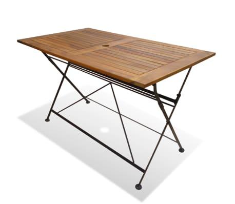 vidaXL foldbart havebord i massivt akacietræ 120 x 70 x 74 cm