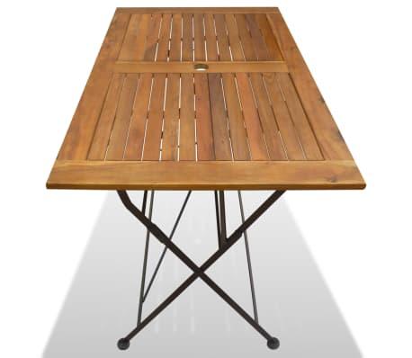 vidaXL Table pliable de jardin Bois d\'acacia 120 x 70 x 74 cm