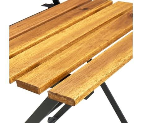 acheter vidaxl chaise pliable de jardin 2 pcs bois d 39 acacia 40 x 46 x 85 cm pas cher. Black Bedroom Furniture Sets. Home Design Ideas