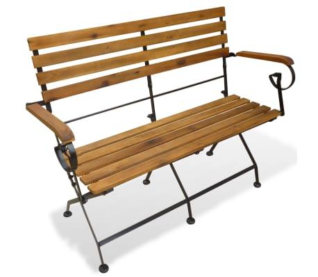 vidaXL Banco plegable de jardín 112 cm madera de acacia maciza