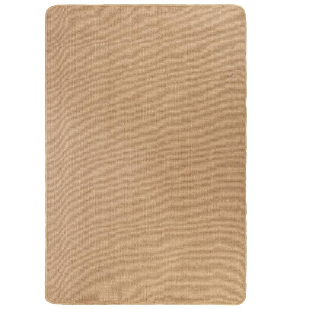 Kusový koberec z juty s latexovým podkladem 70x130 cm přírodní