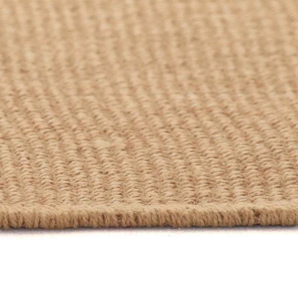 vidaXL Tapijt met latex onderkant 80x160 cm jute natuurlijk