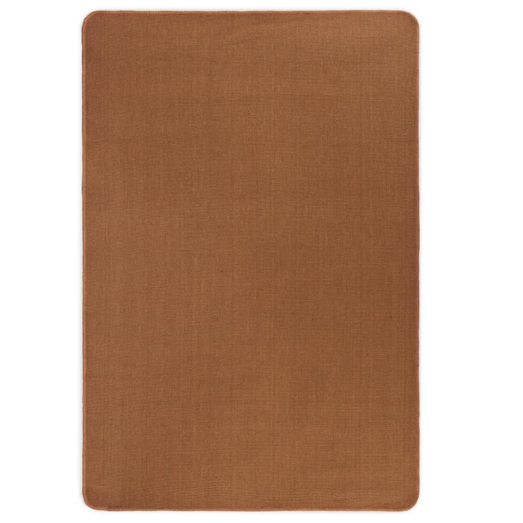 vidaXL Kusový koberec z juty s latexovým podkladem 70 x 130 cm hnědý