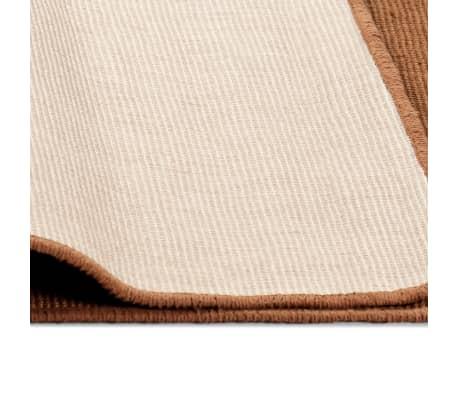 vidaXL Dywan z juty z podkładem z lateksu, 70 x 130 cm, brązowy[4/4]