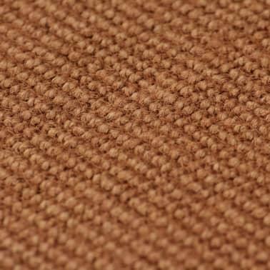 vidaXL Dywan z juty z podkładem z lateksu, 70 x 130 cm, brązowy[2/4]