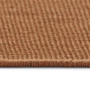 vidaXL Dywan z juty z podkładem z lateksu, 70 x 130 cm, brązowy[3/4]