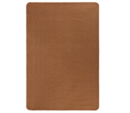 vidaXL Dywan z juty z podkładem z lateksu, 80 x 160 cm, brązowy