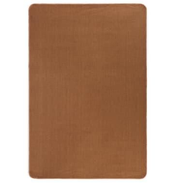 vidaXL Dywan z juty z podkładem z lateksu, 80 x 160 cm, brązowy[1/4]