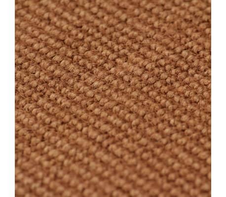 vidaXL Dywan z juty z podkładem z lateksu, 80 x 160 cm, brązowy[2/4]