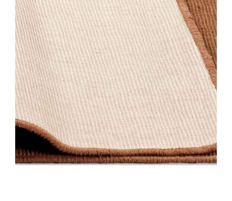 vidaXL Dywan z juty z podkładem z lateksu, 80 x 160 cm, brązowy[4/4]
