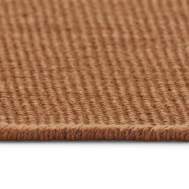 vidaXL Dywan z juty z podkładem z lateksu, 80 x 160 cm, brązowy[3/4]