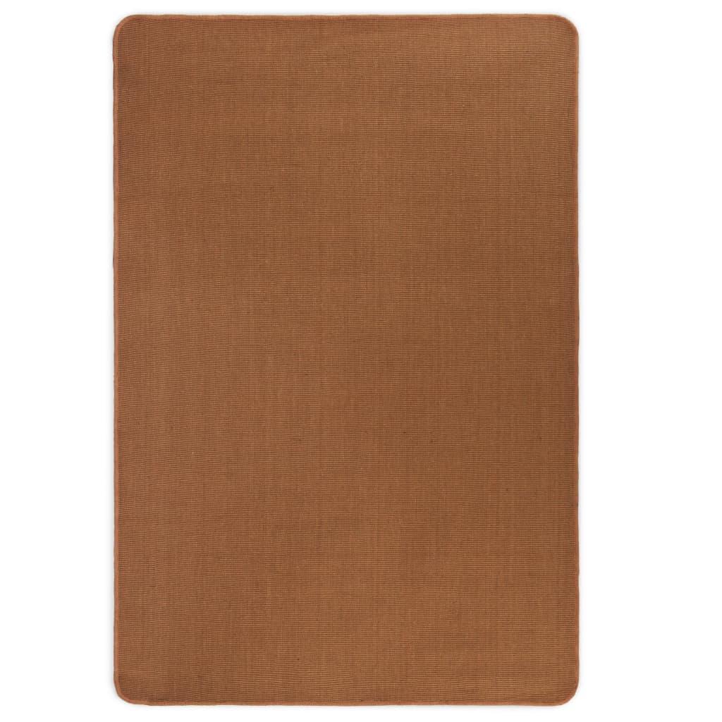 vidaXL Jutematta med latexundersida 120x180 cm brun