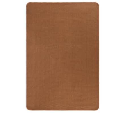vidaXL Dywan z juty z podłożem z lateksu, 120 x 180 cm, brązowy