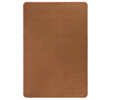 vidaXL Jutematta med latexundersida 120x180 cm brun[1/4]