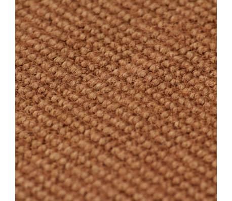 vidaXL Jutematta med latexundersida 140x200 cm brun[2/4]