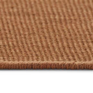 vidaXL Jutematta med latexundersida 140x200 cm brun[3/4]