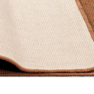 vidaXL Jutematta med latexundersida 140x200 cm brun[4/4]
