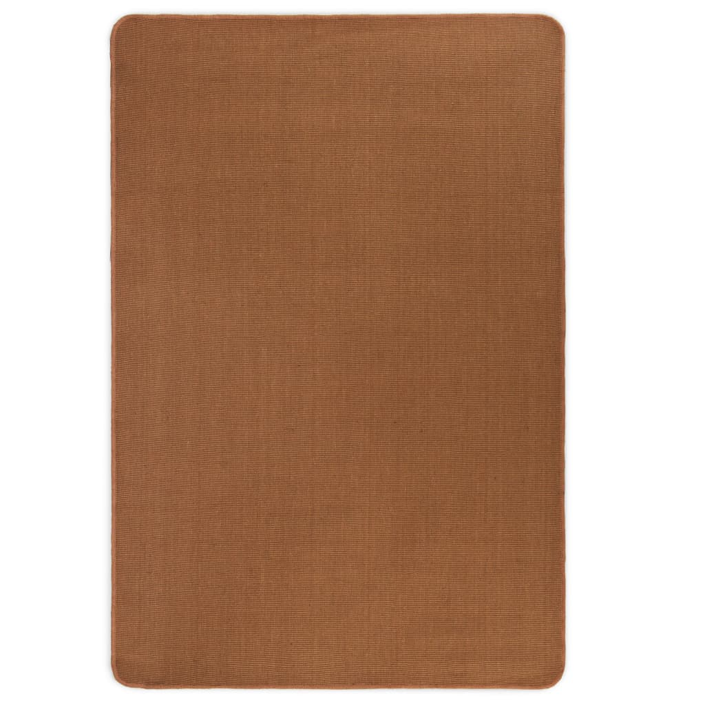 vidaXL Kusový koberec z juty s latexovým podkladem 160 x 230 cm hnědý