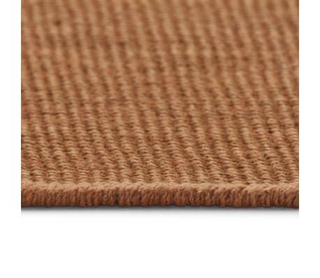 vidaXL Dywan z juty z podkładem z lateksu, 160 x 230 cm, brązowy[3/4]