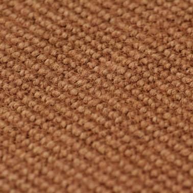 vidaXL Teppich Jute mit Latexrücken 190 x 300 cm Braun[2/4]