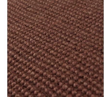 vidaXL Jutematta med latexundersida 80x160 cm mörkbrun[2/4]