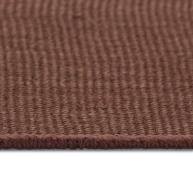 vidaXL Jutematta med latexundersida 80x160 cm mörkbrun[3/4]
