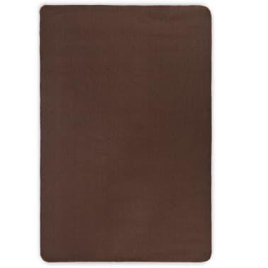 vidaXL Alfombra de yute con reverso de latex 120x180 cm marrón oscuro[1/4]