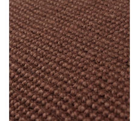 vidaXL Alfombra de yute con reverso de latex 120x180 cm marrón oscuro[2/4]
