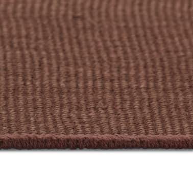 vidaXL Alfombra de yute con reverso de latex 120x180 cm marrón oscuro[3/4]