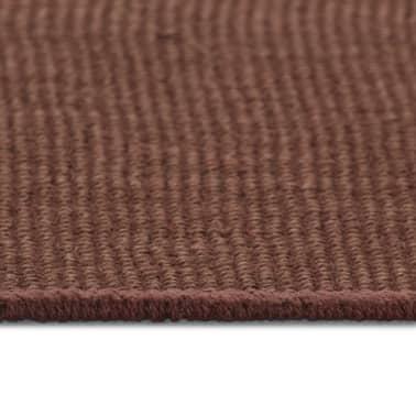 vidaXL Dywan z juty z podkładem z lateksu, 140 x 200 cm, ciemnobrązowy[3/4]