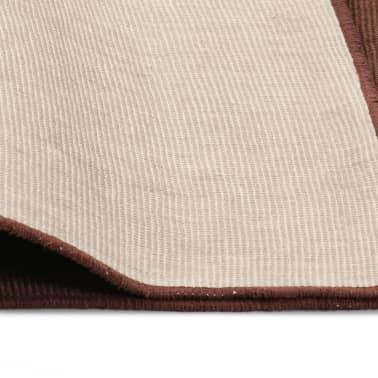 vidaXL Dywan z juty z podkładem z lateksu, 140 x 200 cm, ciemnobrązowy[4/4]