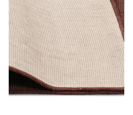 vidaXL Dywan z juty z podkładem z lateksu, 160 x 230 cm, ciemnobrązowy[4/4]