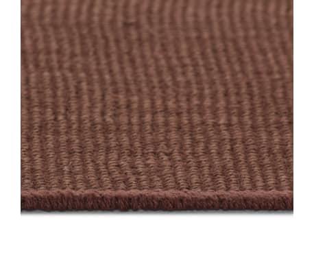 vidaXL Dywan z juty z podkładem z lateksu, 190 x 240 cm, ciemny brąz[3/4]