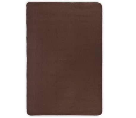 vidaXL Dywan z juty z podkładem z lateksu, 190 x 300 cm, ciemny brąz[1/4]
