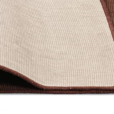 vidaXL Dywan z juty z podkładem z lateksu, 190 x 300 cm, ciemny brąz[4/4]