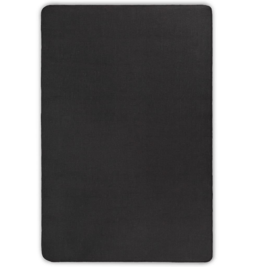 vidaXL Covor de iută cu suport din latex, 80x160 cm, Gri poza 2021 vidaXL