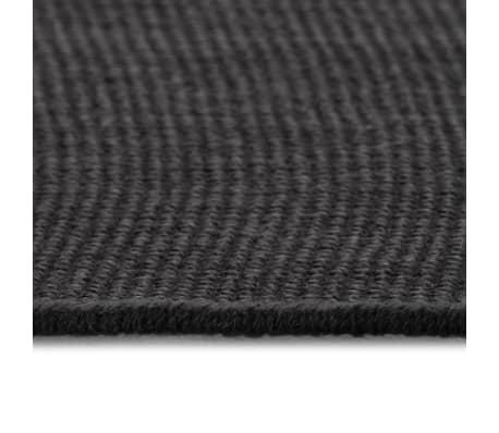 vidaXL Dywan z juty z podkładem z lateksu, 80 x 160 cm, szary[3/4]