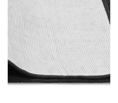 vidaXL Jutematta med latexundersida 80x160 cm grå[4/4]