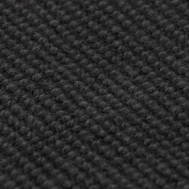 vidaXL Jutematta med latexundersida 80x160 cm grå[2/4]