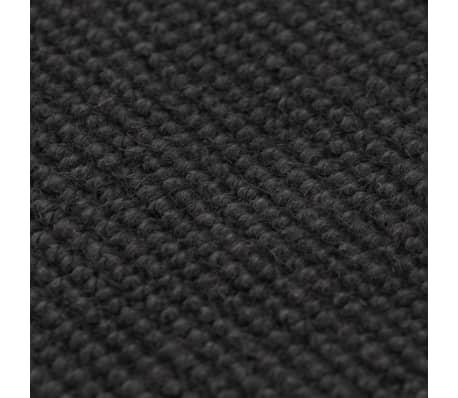 vidaXL Tapis en jute avec support en latex 140 x 200 cm Gris[2/4]
