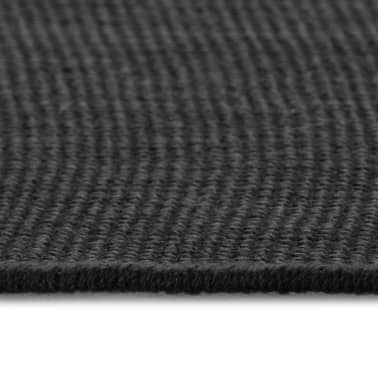 vidaXL Tapis en jute avec support en latex 140 x 200 cm Gris[3/4]