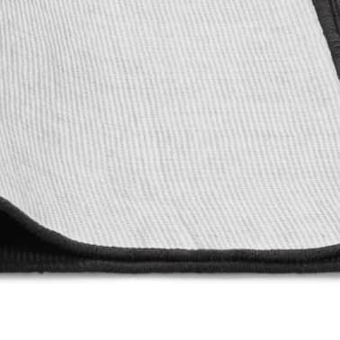 vidaXL Tapis en jute avec support en latex 140 x 200 cm Gris[4/4]