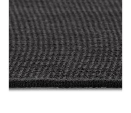vidaXL Dywan z juty z podkładem z lateksu, 190 x 240 cm, szary[3/4]