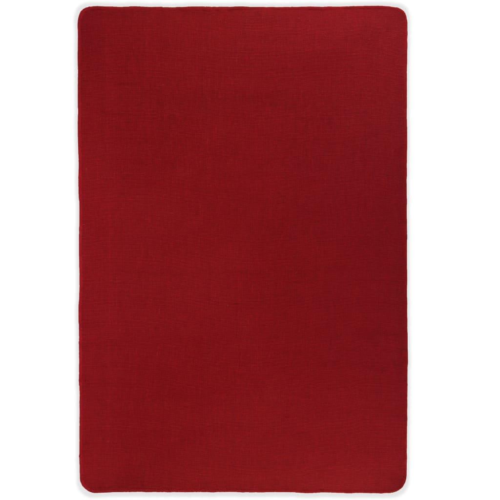 vidaXL Kusový koberec z juty s latexovým podkladem 70 x 130 cm červený