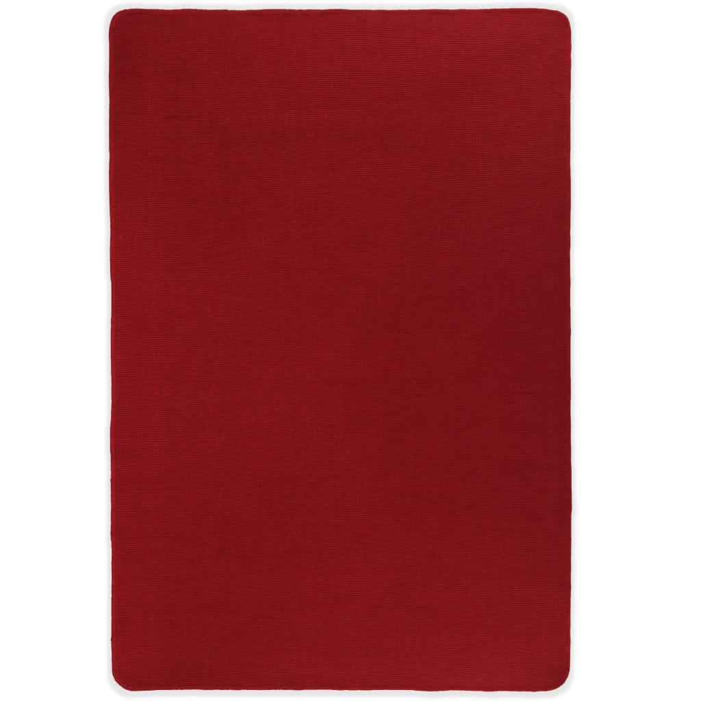 vidaXL Covor de iută cu spate din latex, 120 x 180 cm, roșu poza 2021 vidaXL