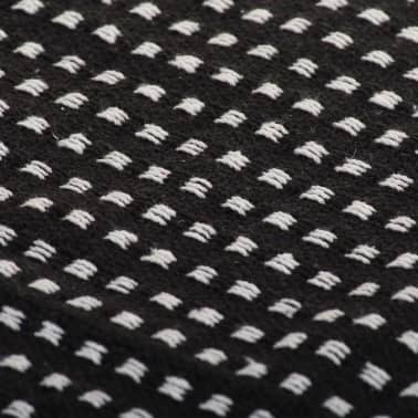 vidaXL Filt bomull fyrkanter 125x150 cm svart[6/6]